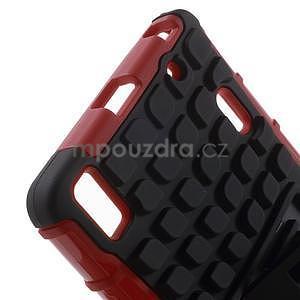 Odolné pouzdro na Lenovo K3 Note a Lenovo A7000 - červené - 5