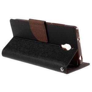 Mr. Fancy peněženkové pouzdro na Xiaomi Mi4 - černé/hnědé - 5