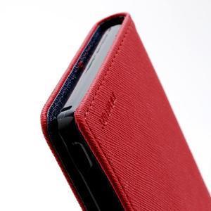 Mr. Goos peněženkové pouzdro na Sony Xperia Z - červené - 5
