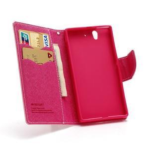 Mr. Goos peněženkové pouzdro na Sony Xperia Z - růžové - 5