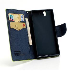 Mr. Goos peněženkové pouzdro na Sony Xperia Z - zelené - 5