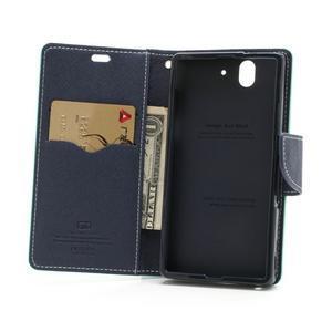 Mr. Goos peněženkové pouzdro na Sony Xperia Z - azurové - 5