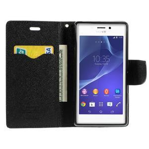 Mr. Goos peněženkové pouzdro na Sony Xperia M2 - černé - 5