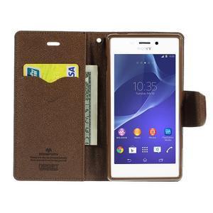 Mr. Goos peněženkové pouzdro na Sony Xperia M2 - černé/hnědé - 5
