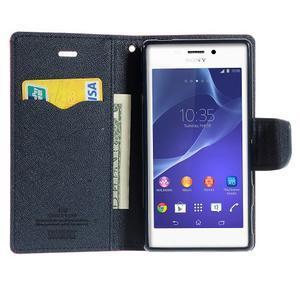 Mr. Goos peněženkové pouzdro na Sony Xperia M2 - rose - 5