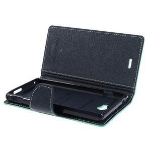 Mr. Goos peněženkové pouzdro na Sony Xperia M2 - azurové - 5