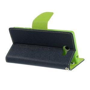Mr. Goos peněženkové pouzdro na Sony Xperia M2 - tmavěmodré - 5