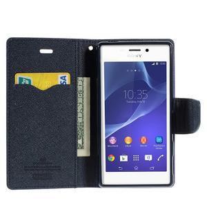 Mr. Goos peněženkové pouzdro na Sony Xperia M2 - fialové - 5