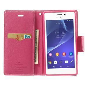 Mr. Goos peněženkové pouzdro na Sony Xperia M2 - růžové - 5