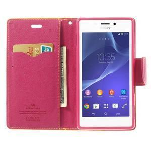 Mr. Goos peněženkové pouzdro na Sony Xperia M2 - žluté - 5