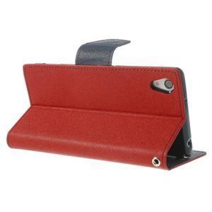 Fancy peněženkové pouzdro na Sony Xperia Z2 - červené - 5