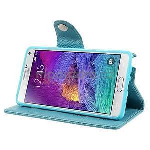 Zapínací peněženkové poudzro Samsung Galaxy Note 4 - světle modré - 5