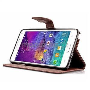 Peněženkové pouzdro s poutkem na Samsung Galaxy Note 4 - černé - 5
