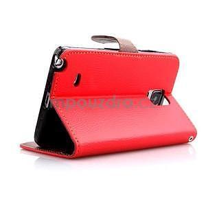 Peněženkové pouzdro s poutkem na Samsung Galaxy Note 4 - červené - 5