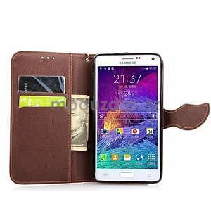 Peněženkové pouzdro s poutkem na Samsung Galaxy Note 4 - rose - 5