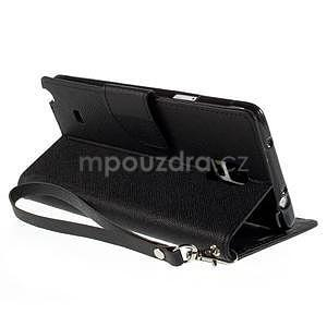 Stylové peněženkové pouzdro na Samsnug Galaxy Note 4 - černé - 5