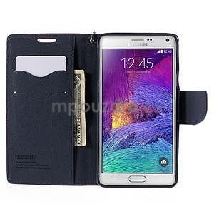 Stylové peněženkové pouzdro na Samsnug Galaxy Note 4 - rose - 5