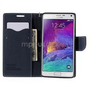 Stylové peněženkové pouzdro na Samsnug Galaxy Note 4 - azurové - 5