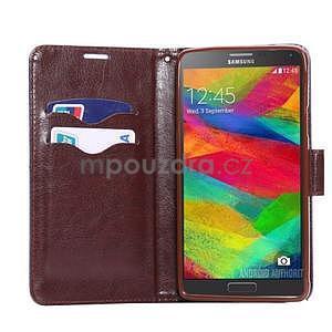 Jeans peněženkové pouzdro pro Samsung Galaxy Note 4 - modré - 5