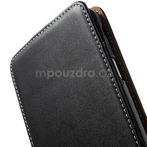 Flipové pouzdro pro Samsugn Galaxy Note 4 - černé - 5