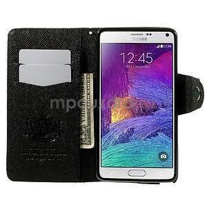 Zapínací peněženkové poudzro Samsung Galaxy Note 4 - černé - 5