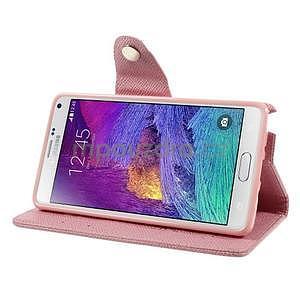 Zapínací peněženkové poudzro Samsung Galaxy Note 4 - růžové - 5