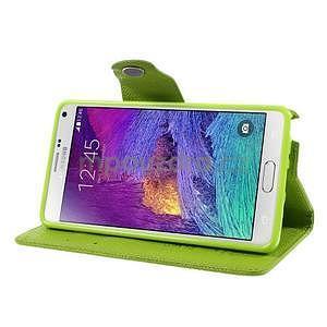 Zapínací pěneženkové poudzro Samsung Galaxy Note 4 - zelené - 5