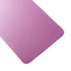 Plastový obal s koženkovým plátem na Samsung Galaxy A3 (2016) - růžový - 5