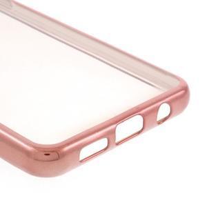 Rich gelový obal s růžovozlatým obvodem na Samsung Galaxy A3 (2016) - 5