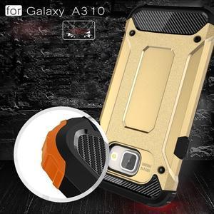 Extreme outdoor kryt 2v1 na mobil Samsung Galaxy A3 (2016) - zlatý - 5