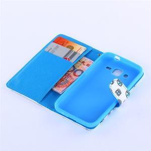 Standy peněženkové pouzdro na Samsung Galaxy Core Prime - modrá očka - 5
