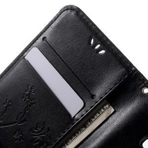 Butterfly PU kožené pouzdro na Samsung Galaxy Core Prime - černé - 5