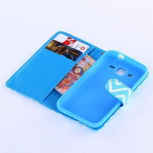 Standy peněženkové pouzdro na Samsung Galaxy Core Prime - modrý vzor - 5