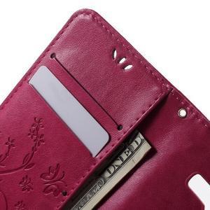 Butterfly PU kožené pouzdro na Samsung Galaxy Core Prime - rose - 5