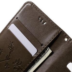 Butterfly PU kožené pouzdro na Samsung Galaxy Core Prime - hnědé - 5