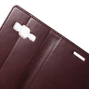 Moon PU kožené pouzdro na mobil Samsung Galaxy Core Prime - vínové - 5