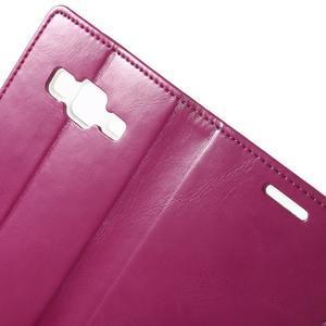Moon PU kožené pouzdro na mobil Samsung Galaxy Core Prime - rose - 5