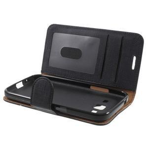 Clothy peněženkové pouzdro na Samsung Galaxy Core Prime - černé - 5