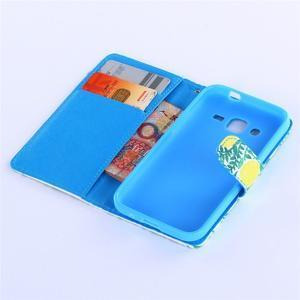 Standy peněženkové pouzdro na Samsung Galaxy Core Prime - citronovník - 5