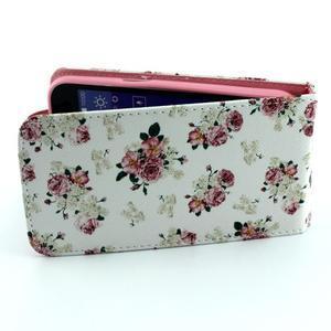 Flipové pouzdro na mobil Samsung Galaxy Core Prime - květiny - 5