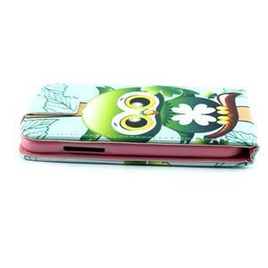 Flipové pouzdro na mobil Samsung Galaxy Core Prime - sovička - 5