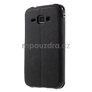 PU kožené pouzdro s okýnkem Samsung Galaxy J1 - černé - 5