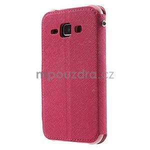 PU kožené pouzdro s okýnkem Samsung Galaxy J1 - rose/růžové - 5