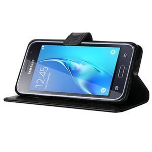 Magicfly PU kožené pouzdro na mobil Samsung Galaxy J1 (2016) - černé - 5