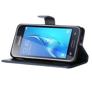Magicfly PU kožené pouzdro na mobil Samsung Galaxy J1 (2016) - tmavěmodré - 5