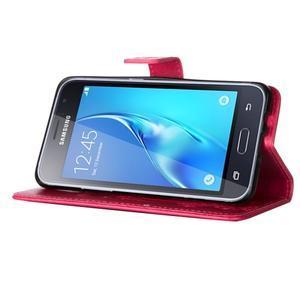 Magicfly PU kožené pouzdro na mobil Samsung Galaxy J1 (2016) - rose - 5
