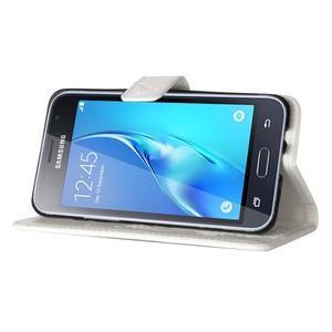 Magicfly PU kožené pouzdro na mobil Samsung Galaxy J1 (2016) - bílé - 5