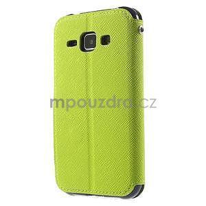 PU kožené pouzdro s okýnkem Samsung Galaxy J1 - zelené/tmavě modré - 5
