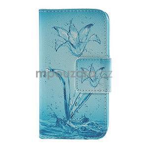 Zapínací pouzdro pro Samsung Galaxy J1 - vodní květina - 5