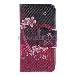 Zapínací pouzdro pro Samsung Galaxy J1 - květinové srdce - 5